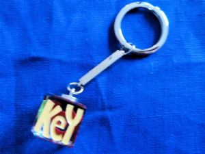 Glass Keyring - Key To My Car
